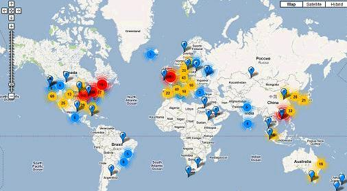 News bulletin of international hologenomics society see interactive zooming world map of sequencers here ajp sciox Gallery